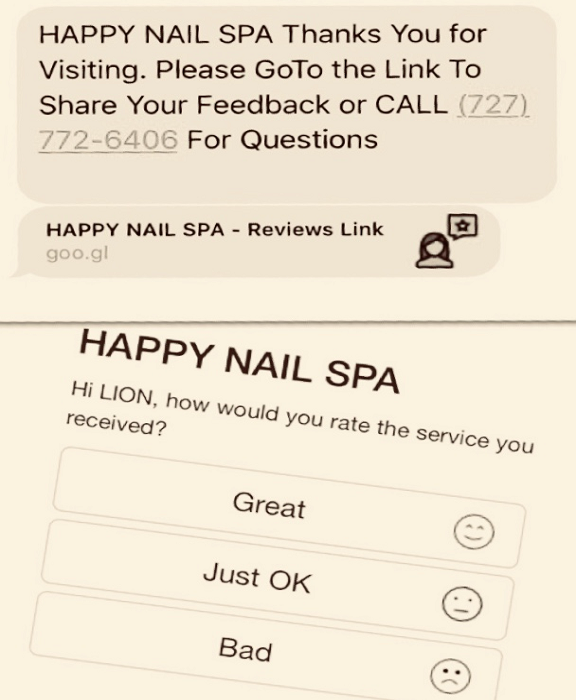 Thank You and Reviews SMS