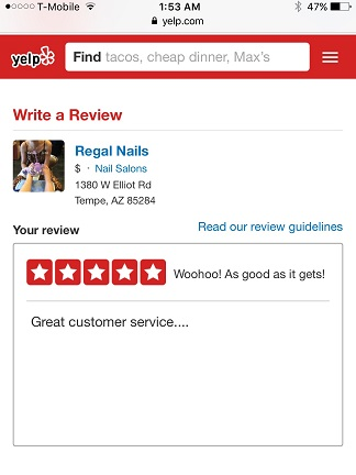 Increase Good Review On Yelp...